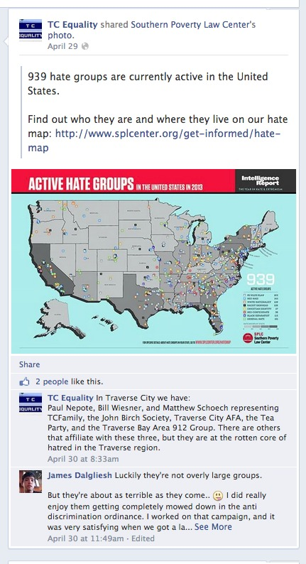 For Tc Equality Anyone Who Has The Potential To Disagree With Their Membership Is A Hate Group