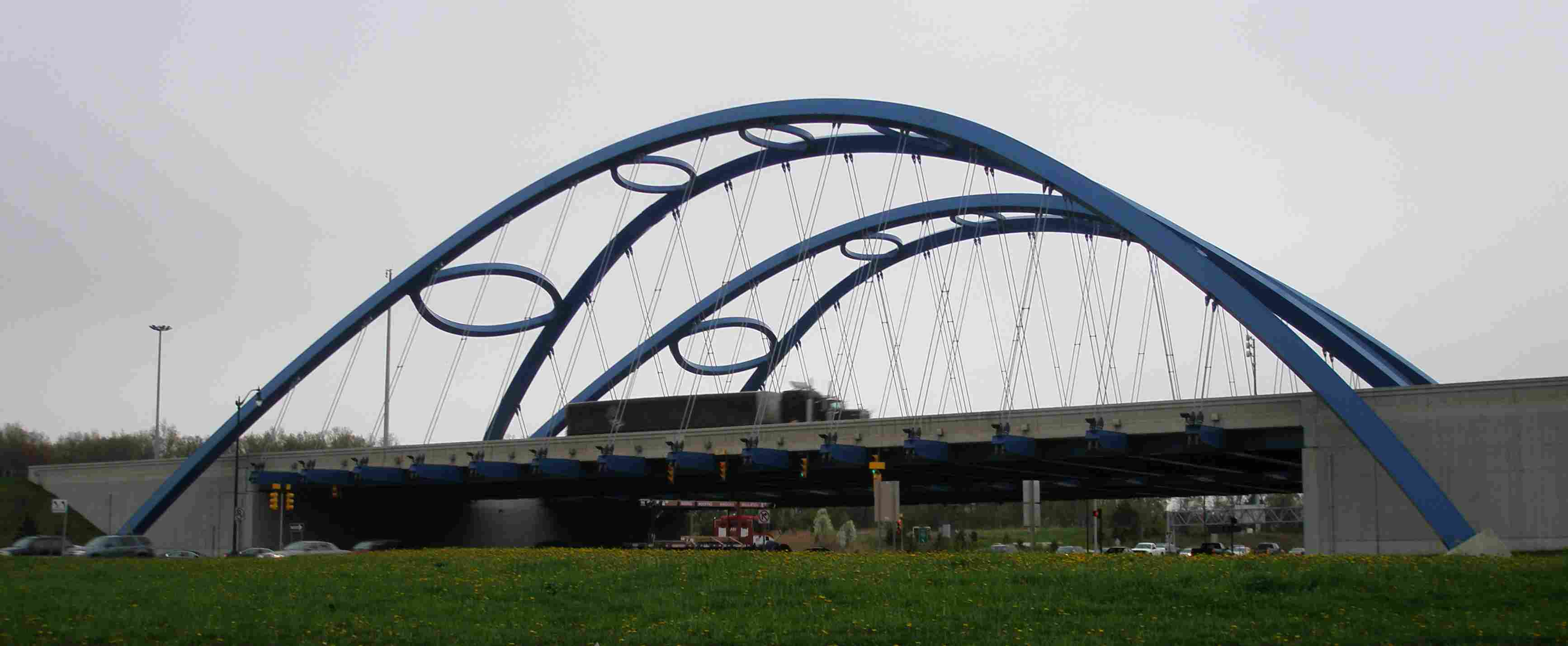 Kwame's and Bobbie's 'Bridge of Bucks' over Telegraph Road