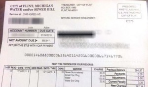 Flint Water Bill 1